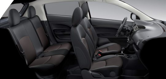 Sieges interieur mitsubishi mirage 2019